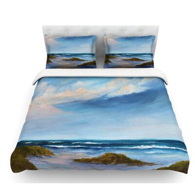 Wet Sand by Rosie Brown Beach View Featherweight Duvet Cover Size: King