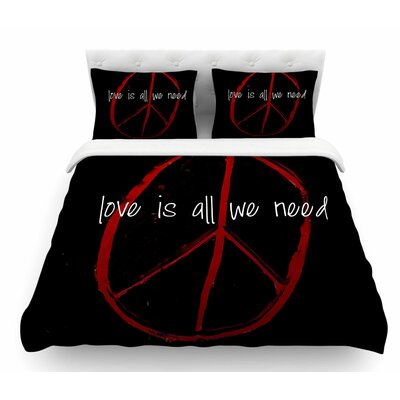 Love is All We Need by Robin Dickinson Featherweight Duvet Cover Size: Queen