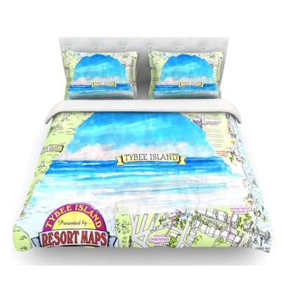 Tybee Island by Rosie Brown Ocean View Featherweight Duvet Cover Size: King