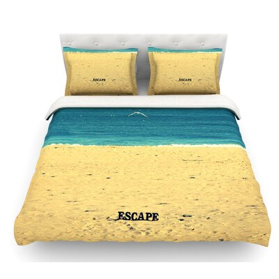 Escape by Robin Dickinson Beach Sand Featherweight Duvet Cover Size: Queen