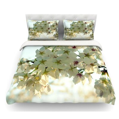 Cherry Blossoms by Robin Dickinson Flower Featherweight Duvet Cover Size: King