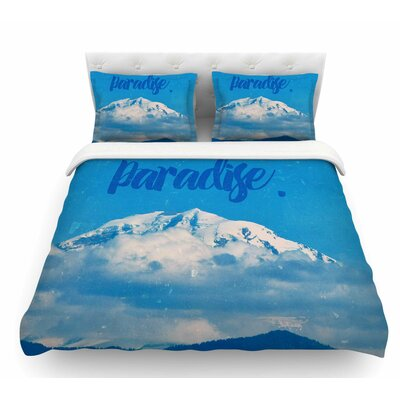 Paradise. by Robin Dickinson Nature Featherweight Duvet Cover Size: Queen