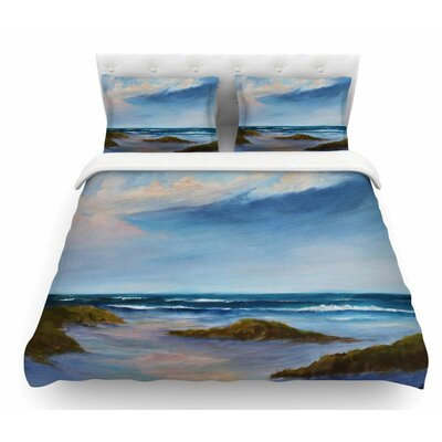 Summer Showers by Rosie Brown Beach Featherweight Duvet Cover Size: Queen