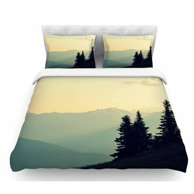 A Wonderful World by Robin Dickinson Landscape Featherweight Duvet Cover Size: Queen
