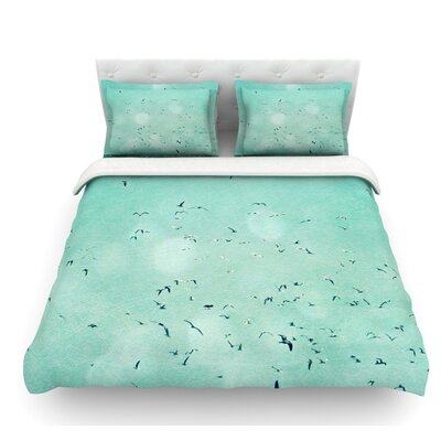 Down by the Sea by Robin Dickinson Featherweight Duvet Cover Size: Twin