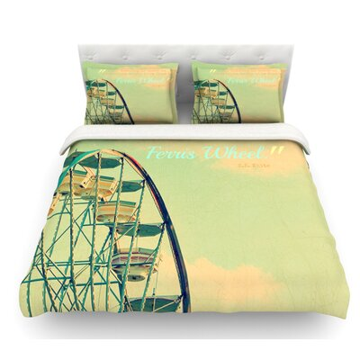 Ferris Wheel by Robin Dickinson Featherweight Duvet Cover Size: Queen