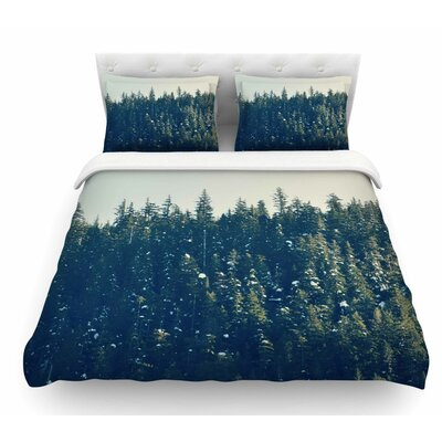 Take the Road Less Traveled by Robin Dickinson Featherweight Duvet Cover Size: King