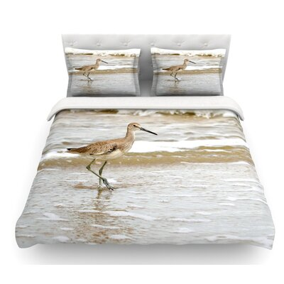 Counting the Waves by Robin Dickinson Featherweight Duvet Cover Size: Queen