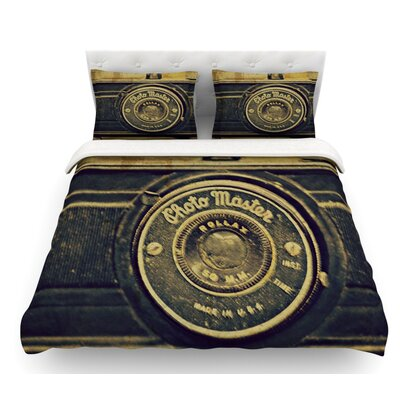 Discarded Treasure by Robin Dickinson Vintage Camera Featherweight Duvet Cover Size: Queen