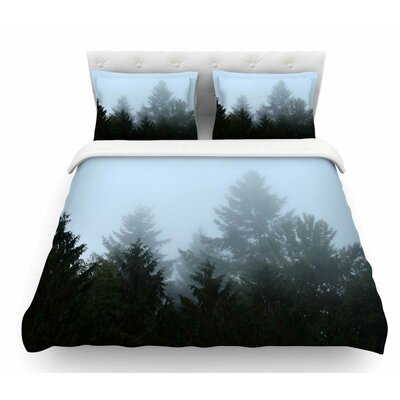 Welcome to Earth by Robin Dickinson Mist Forest Featherweight Duvet Cover Size: King