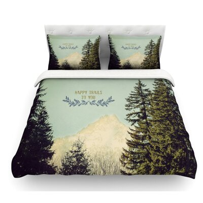 Happy Trails by Robin Dickinson Featherweight Duvet Cover Size: Queen