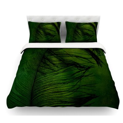 Feather by Robin Dickinson Peacock Featherweight Duvet Cover Size: Queen