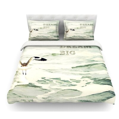 Dream Big by Robin Dickinson Ocean Bird Featherweight Duvet Cover Size: Queen