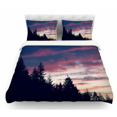 Go on Adventures by Robin Dickinson Skyline Featherweight Duvet Cover Size: Twin