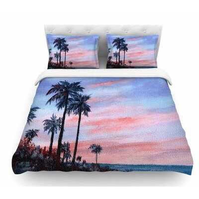 Florida Sunset by Rosie Brown Featherweight Duvet Cover Size: Queen
