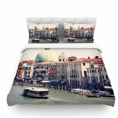 Venice 3 by Sylvia Coomes Featherweight Duvet Cover Size: Queen