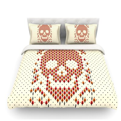 Deforestation by Tobe Fonseca Skull Illustration Featherweight Duvet Cover Size: King