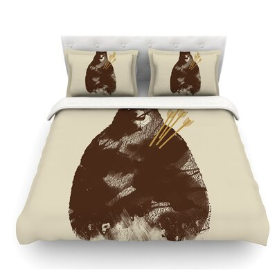 In Love by Tobe Fonseca Bear Featherweight Duvet Cover Size: Queen