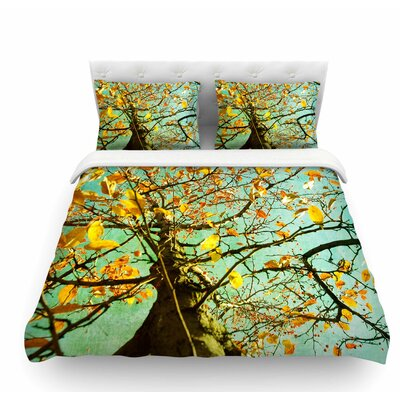 Autumn Tree by Sylvia Coomes Featherweight Duvet Cover Size: King