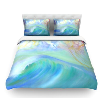 Jelly Fish by Theresa Giolzetti Featherweight Duvet Cover Size: Queen