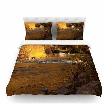 Autumn Stream by Sylvia Coomes Featherweight Duvet Cover Size: Twin