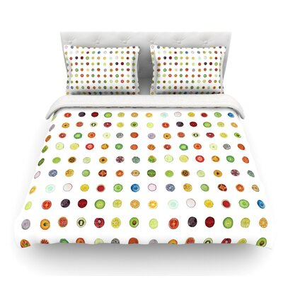 Fruit Pattern by Theresa Giolzetti Food Featherweight Duvet Cover Size: King