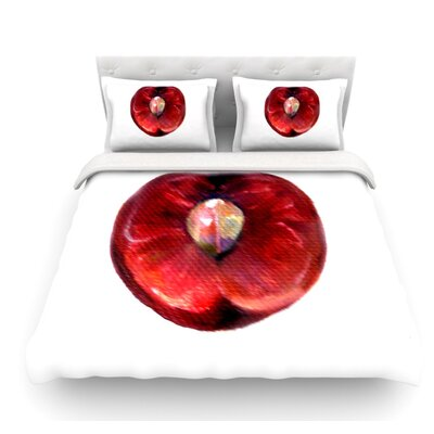 Cherry by Theresa Giolzetti Featherweight Duvet Cover Size: Queen