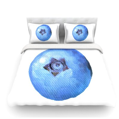 Blueberry by Theresa Giolzetti Featherweight Duvet Cover Size: Queen