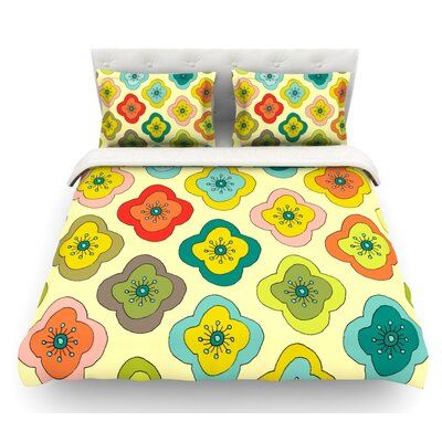 Forest Bloom by Nicole Ketchum Featherweight Duvet Cover Size: Queen