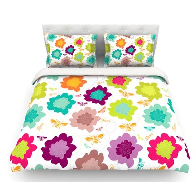 Bee Highway by Nicole Ketchum Featherweight Duvet Cover Size: Queen