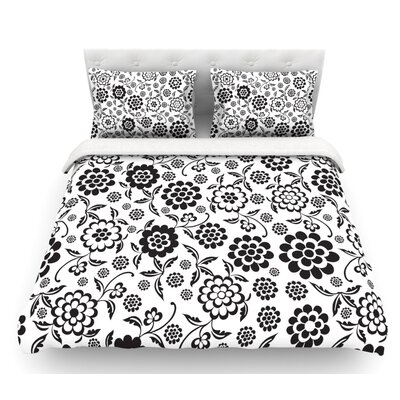 Cherry Floral by Nicole Ketchum Featherweight Duvet Cover Size: Queen