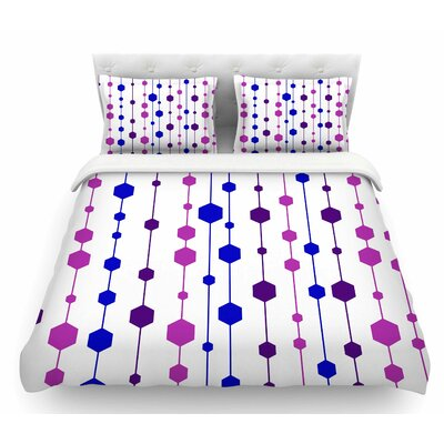 Dots by NL Designs Line Featherweight Duvet Cover Color: Blue/Purple/Pink, Size: Queen