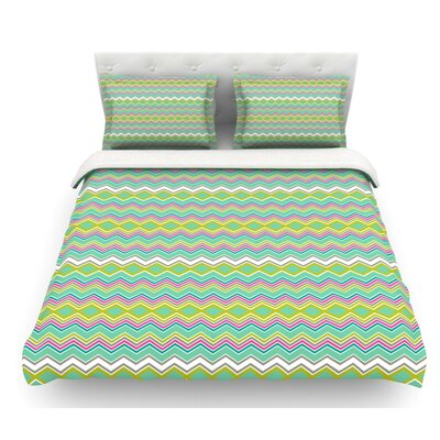 Chevron Love by Nicole Ketchum Featherweight Duvet Cover Size: Queen