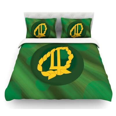 Jupiter by NL Designs Emerald Featherweight Duvet Cover Size: King