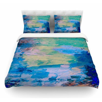 Mineral Surf by Nina May Abstract Featherweight Duvet Cover Size: Twin