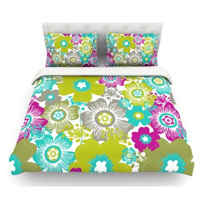 Little Bloom by Nicole Ketchum Featherweight Duvet Cover Size: Queen