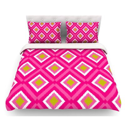 Moroccan Tile by Nicole Ketchum Featherweight Duvet Cover Size: Queen