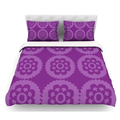Moroccan by Nicole Ketchum Featherweight Duvet Cover Size: King, Color: Purple