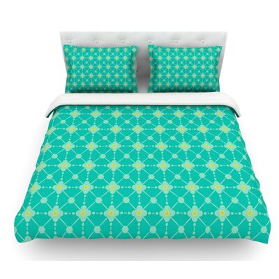 Hive Blooms by Nicole Ketchum Featherweight Duvet Cover Size: King