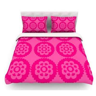 Moroccan by Nicole Ketchum Featherweight Duvet Cover Color: Hot Pink, Size: King