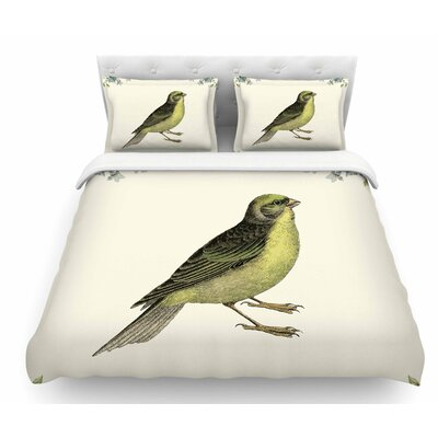 Vintage Bird 2 by NL Designs Animals Featherweight Duvet Cover Size: King