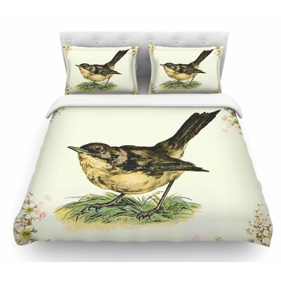 Vintage Bird by NL Designs Nature Featherweight Duvet Cover Size: Twin