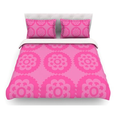 Moroccan by Nicole Ketchum Featherweight Duvet Cover Size: Twin, Color: Pink