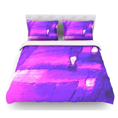 Suenos en Purpura by Oriana Cordero Featherweight Duvet Cover Size: Queen