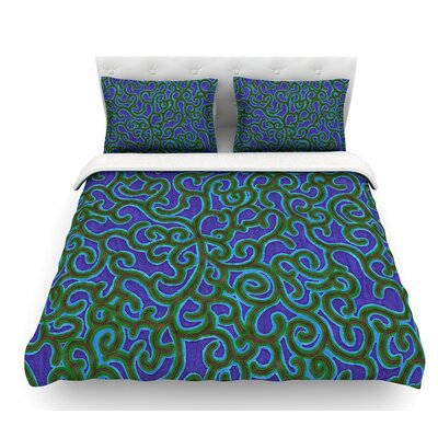 Swirling Vines by NL Designs Featherweight Duvet Cover Size: King
