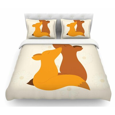 Foxy Love by NL Designs Featherweight Duvet Cover Size: King