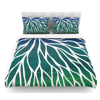 Ocean Flower by NL Designs Featherweight Duvet Cover Size: Queen