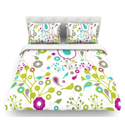 Bird Fantasy by Nicole Ketchum Featherweight Duvet Cover Size: Queen
