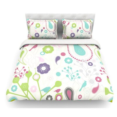 Bird Song by Nicole Ketchum Featherweight Duvet Cover Size: Queen