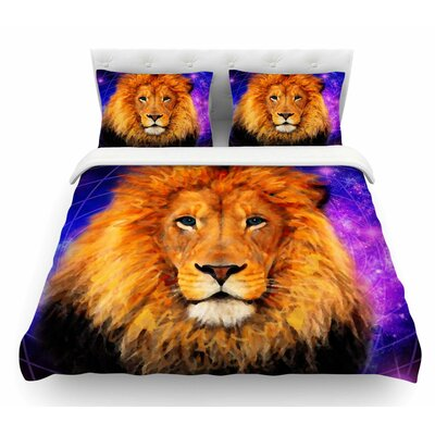 Space Lion by NL Designs Featherweight Duvet Cover Size: Twin